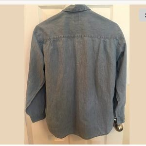 GAP Tops - Gap Womens Shirt Long Sleeve Light Denim Size SM